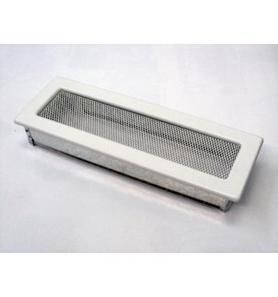 Вентиляционная решетка для камина Kratki 11х32 белая 32B