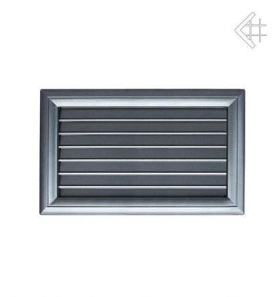 Вентиляционная решетка для камина Kratki Оскар графит с воздушной системой с жалюзи 17х30 30OGAIR