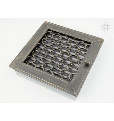 Вентиляционная решетка для камина Kratki Ретро графит с одной дверкой выдвигающаяся 17х17 RETRO1/17/G/A