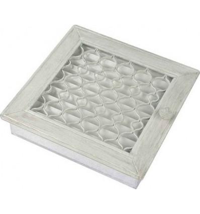 Вентиляционная решетка для камина Kratki Ретро белая с одной дверкой выдвигающаяся 17х17 RETRO1/17/B/A