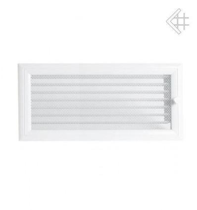 Вентиляционная решетка для камина Kratki 17х37 Оскар белая с жалюзи 37OBX