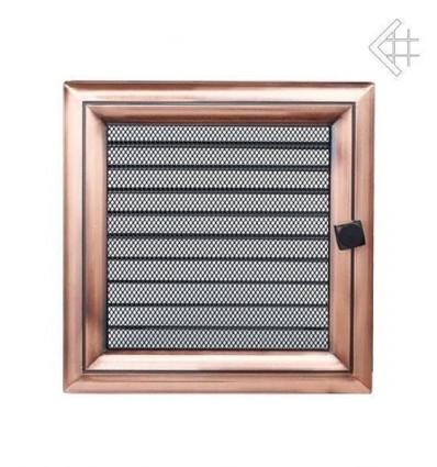 Вентиляционная решетка для камина Kratki 22х22 Оскар медь с жалюзи 22OMX