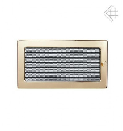 Вентиляционная решетка для камина Kratki 17х30 полированная латунь с жалюзи 30ZX