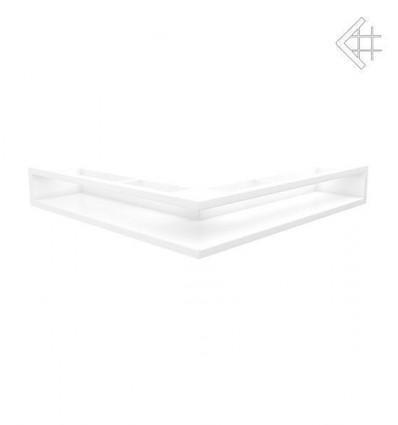 Вентиляционная решетка для камина Kratki Люфт угловая стандарт белая 90 LUFT/NS/90/45S/B