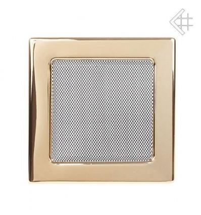Вентиляционная решетка для камина Kratki 22х22 полированная латунь 22Z