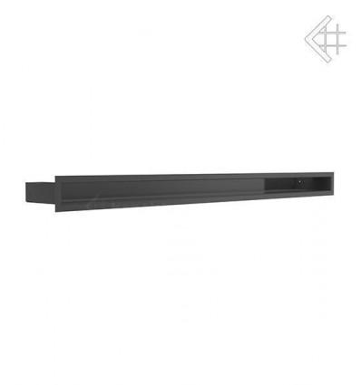 Вентиляционная решетка для камина Kratki Люфт черная 6x100 LUFT/6/100/45S/C