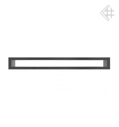 Вентиляционная решетка для камина Kratki 6х60 тунель черная TUNEL6/60/C