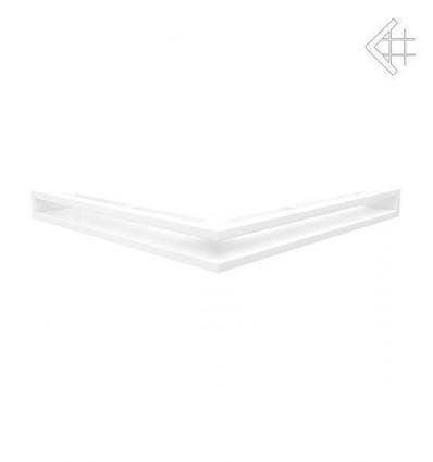 Вентиляционная решетка для камина Kratki Люфт угловая стандарт белая 60 LUFT/NS/60/B