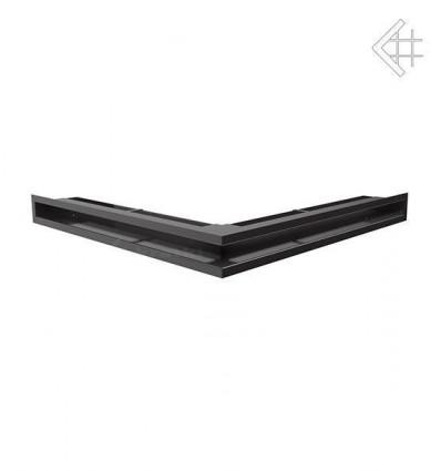 Вентиляционная решетка для камина Kratki Люфт угловая стандарт черная 60 LUFT/NS/60/C