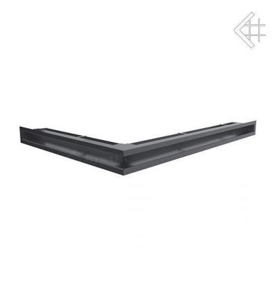 Вентиляционная решетка для камина Kratki Люфт угловая правая графит 60 LUFT/NP/60/G