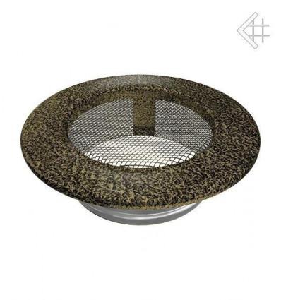 Вентиляционная решетка для камина Kratki КРУГЛАЯ черная латунь пористая д.100 FI/100CZ