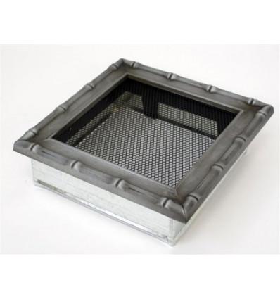 Вентиляционная решетка для камина Kratki 17х17 Диана хром 17DS