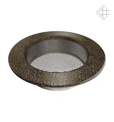 Вентиляционная решетка для камина Kratki КРУГЛАЯ черная латунь пористая д.125 FI/125CZ