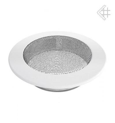 Вентиляционная решетка для камина Kratki КРУГЛАЯ белая д.150 FI/150B