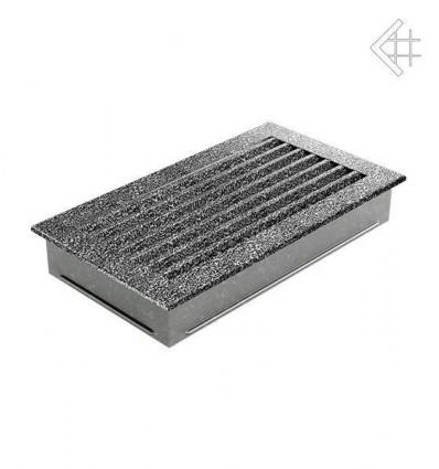 Вентиляционная решетка для камина Kratki 17x30 FRESH черная хром пористая 30CS/FRESH