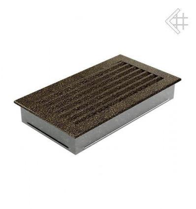 Вентиляционная решетка для камина Kratki 17x30 FRESH черная латунь пористая 30CZ/FRESH