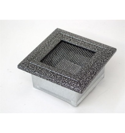 Вентиляционная решетка для камина Kratki 11х11 Оскар черная/хром 11OCS