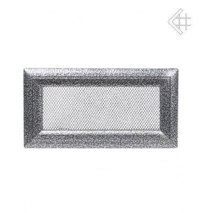 Вентиляционная решетка для камина Kratki 11х24 Оскар черная/хром 24OCS