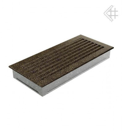 Вентиляционная решетка для камина Kratki 17x37 FRESH черная латунь пористая 37CZ/FRESH