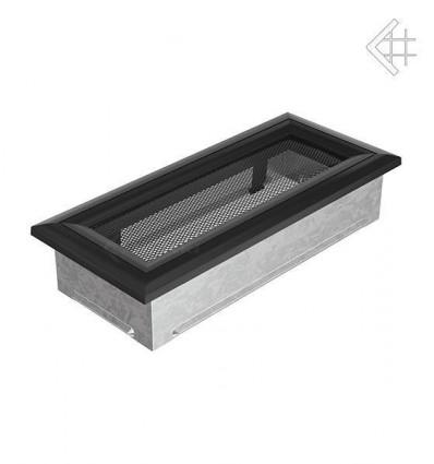 Вентиляционная решетка для камина Kratki 11х24 оскар черная 24OC