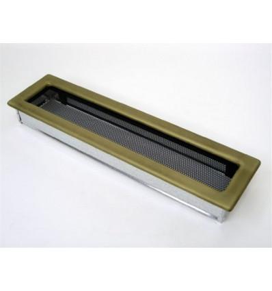 Вентиляционная решетка для камина Kratki 11х42 гальваника под золото 42ZG