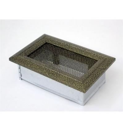 Вентиляционная решетка для камина Kratki 11х17 Оскар черная/латунь 117OCZ