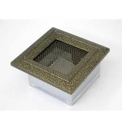 Вентиляционная решетка для камина Kratki 11х11 Оскар черная/латунь 11OCZ