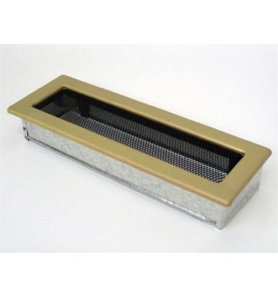 Вентиляционная решетка для камина Kratki 11х32 гальваника под золото 32ZG