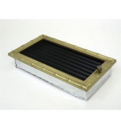 Вентиляционная решетка для камина Kratki 17х30 Диана латунь с жалюзи 30DZX