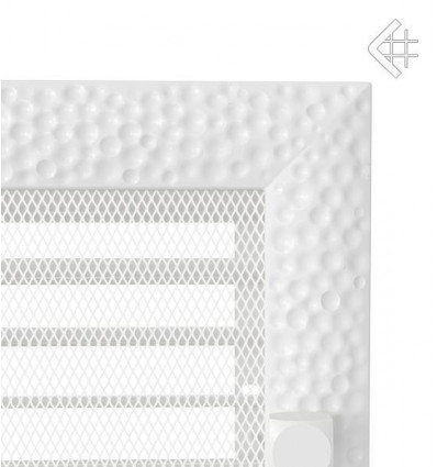 Вентиляционная решетка для камина Kratki 17x17 Venus белая с жалюзи 17VBX