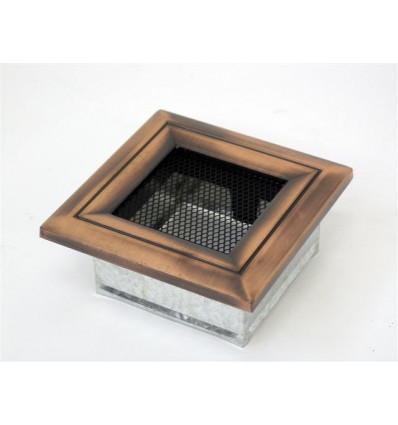 Вентиляционная решетка для камина Kratki 11х11 Оскар медь 11OM