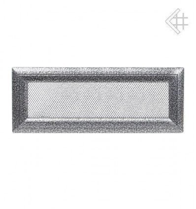 Вентиляционная решетка для камина Kratki 11х42 Оскар черная/хром 42OCS
