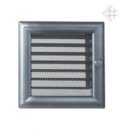 Вентиляционная решетка для камина Kratki 17х17 Оскар графитовая с жалюзи 17OGX