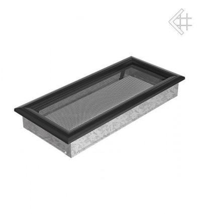 Вентиляционная решетка для камина Kratki 17х37 оскар черная 37OC
