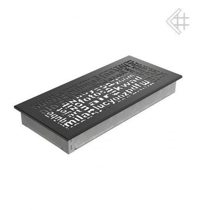 Вентиляционная решетка для камина Kratki 17x37 ABC черная 37ABC/C