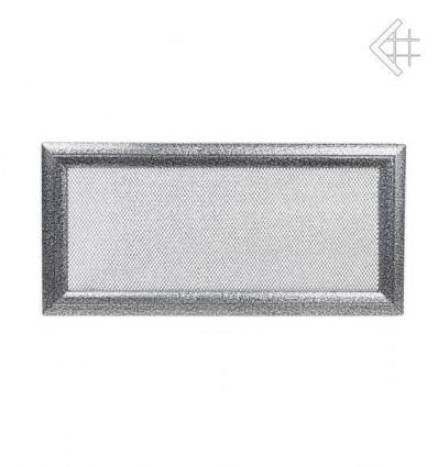 Вентиляционная решетка для камина Kratki 17х37 Оскар черная/хром 37OCS