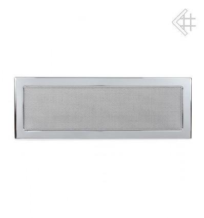 Вентиляционная решетка для камина Kratki 17х49 никелированная 49N