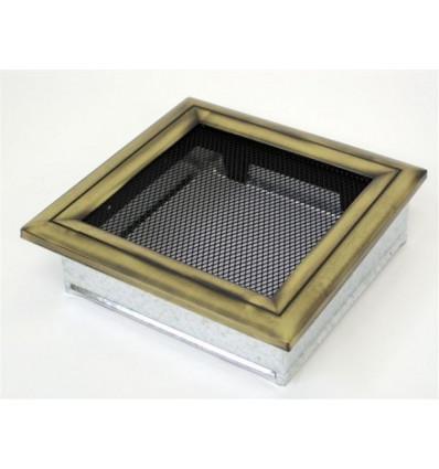 Вентиляционная решетка для камина Kratki 22х22 Оскар латунь 22O