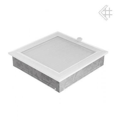 Вентиляционная решетка для камина Kratki 22х22 оскар белая с жалюзи 22OBX