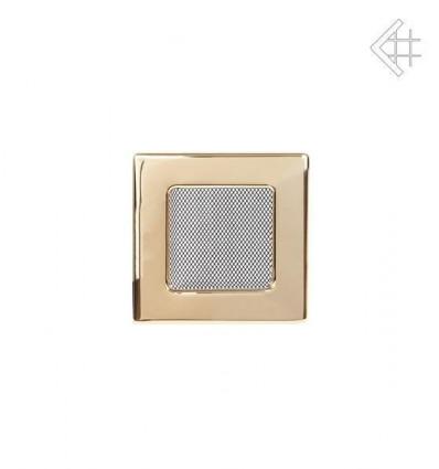 Вентиляционная решетка для камина Kratki 11х11 полированная латунь 11Z