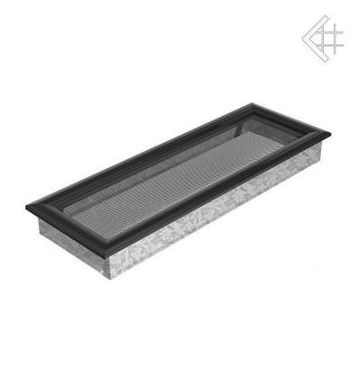 Вентиляционная решетка для камина Kratki 17х49 оскар черная 49OC
