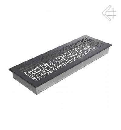 Вентиляционная решетка для камина Kratki 17x49 ABC графитовая 49ABC/G