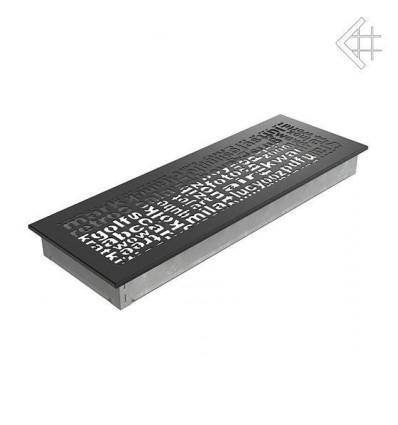 Вентиляционная решетка для камина Kratki 17x49 ABC черная 49ABC/C