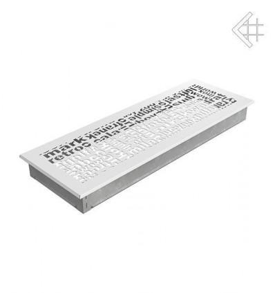 Вентиляционная решетка для камина Kratki 17x49 ABC белая 49ABC/B