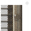 Вентиляционная решетка для камина Kratki 17х37 Оскар черная/латунь с жалюзи 37OCZX