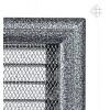 Вентиляционная решетка для камина Kratki 17х37 Оскар черная/хром с жалюзи 37OCSX