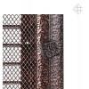 Вентиляционная решетка для камина Kratki 17х37 Оскар черная/медь с жалюзи 37OMIX