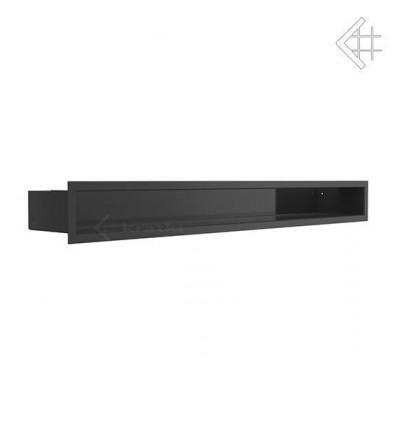 Вентиляционная решетка для камина Kratki Люфт черная 9x80 LUFT9/80/45S/C