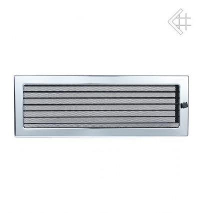Вентиляционная решетка для камина Kratki 17х49 никелированная с жалюзи 49NX