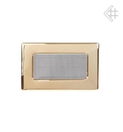 Вентиляционная решетка для камина Kratki 11х17 полированная латунь 117Z